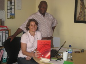 Clare with George Mahlaela